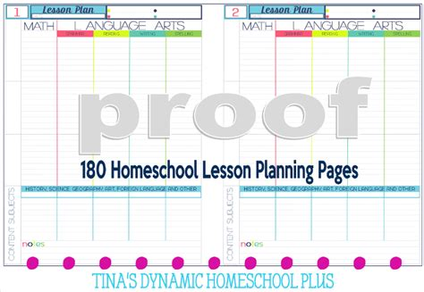 choose homeschool lesson planning pages carefully