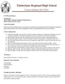High School Syllabus Template by Ccp Phy Sci Trhs Syllabus Template