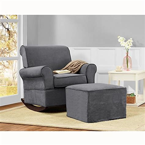 Grey Nursery Rocking Chair Baby Relax The Mackenzie Microfiber Plush Nursery Rocker Chair Grey