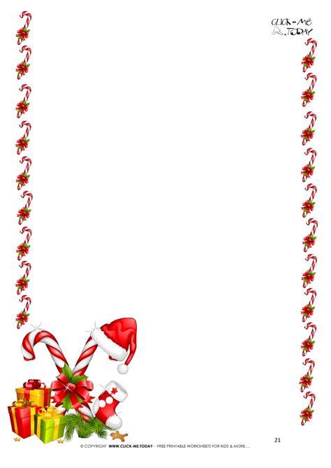 printable letter santa template border candy
