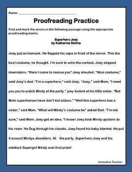 Proofreading Worksheets 6th Grade by Editing And Revising Worksheets For 4th Graders Editing