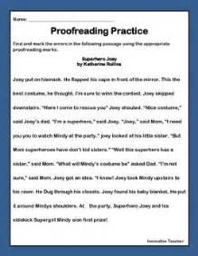 editing and revising worksheets for 4th graders editing