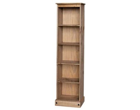 Corona Tall Narrow Bookcase Corona Waxed Pine Tall Narrow Bookcase