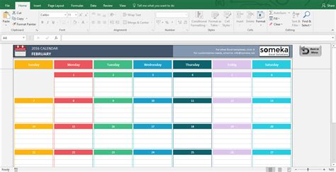 Monthly Calendar Schedule Template Excel
