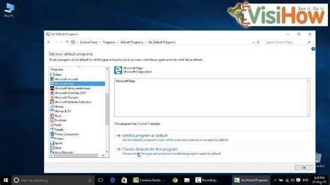windows 10 edge browser tutorial set microsoft edge as default browser on windows 10 visihow