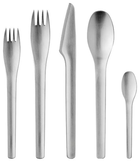 modern silverware stelton erik magnussen cutlery 5pc setting stelton