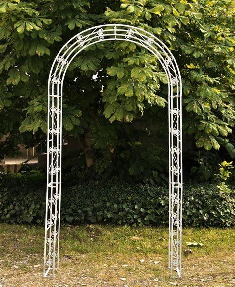 enrejado jardin arco enrejado tachonado para jard 237 n en hierro blanco