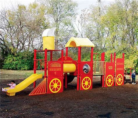 train swing set train play structure playground equipment usa