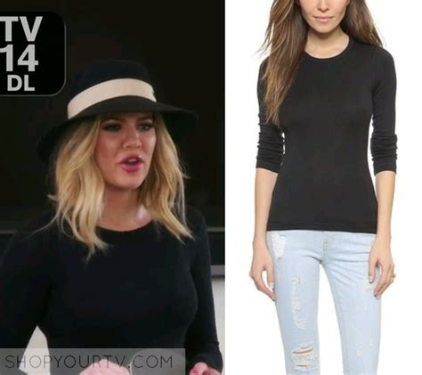Top Khloe kuwtk season 12 episode 1 khloe s black sleeve top shop your tv