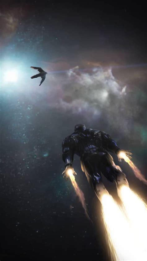 tony stark rescue avengers endgame iphone wallpaper