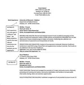 Federal Resume Template Word by Federal Resume Template 10 Free Word Excel Pdf Format