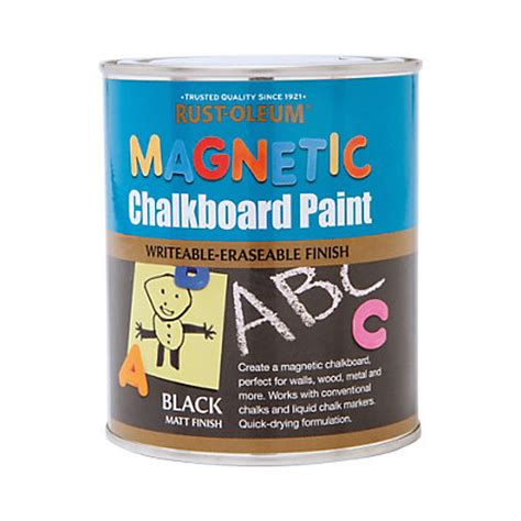 chalkboard paint remover rust oleum magnetic chalkboard paint 750ml