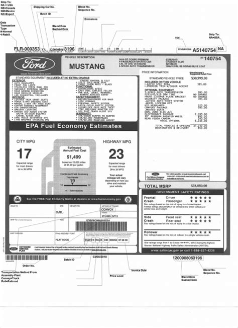 Get a free PDF of your window sticker - Ford F150 Forum