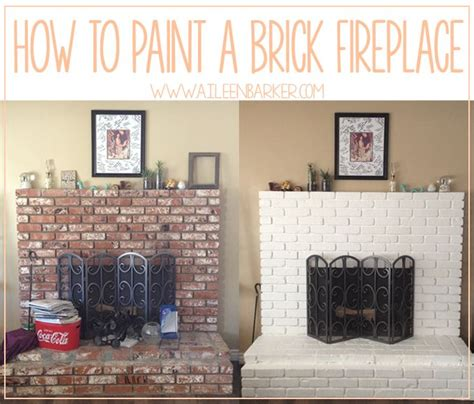 17 ideas about painting brick fireplaces on