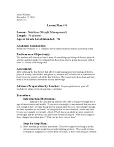 weight management lesson plans percentage and bmi lesson plans worksheets