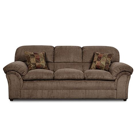 simmons sofa big lots simmons 174 chion mocha sofa with pillows big lots