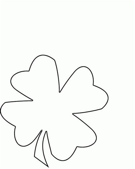 coloring pages clover leaf 4 leaf clover coloring page coloring home