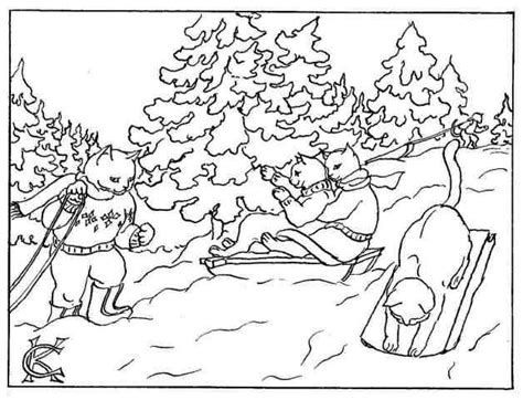 inuit sled dogs coloring pages