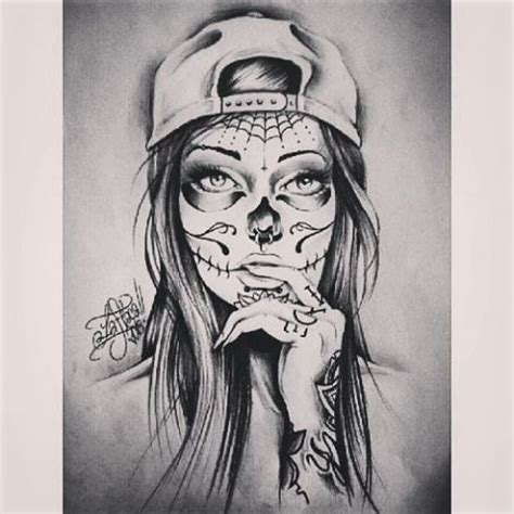tattoo girl sketch 60 famous catrina tattoos designs and sketches golfian com
