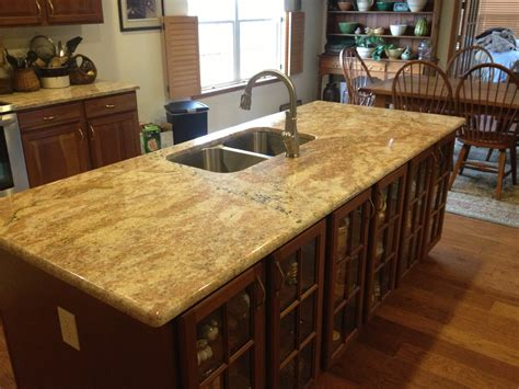 Designer Kitchens Images Granite America Golden Crystal Island Granite America