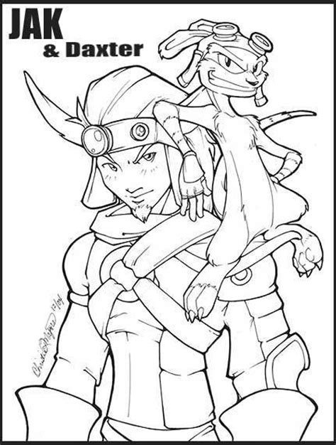 jak and daxter drawings sketch coloring page