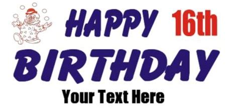 sweet 16 banner template 16th birthday banner sixteen birthday banner sweet