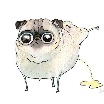 sketch of a pug shop pug drawing on wanelo