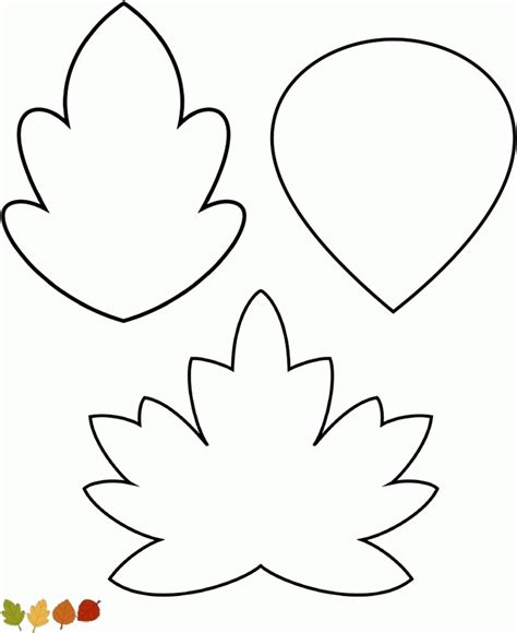 leaf coloring pages pdf leaves template coloring home