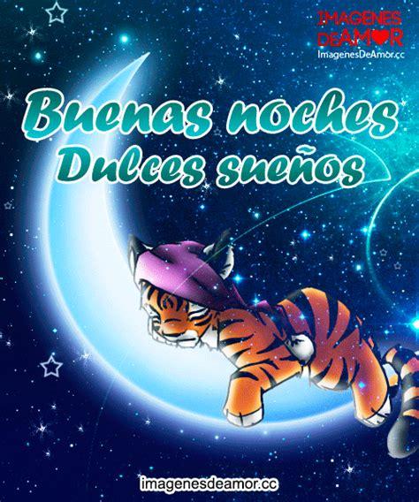 imagenes buenas noches jose tigre acostado en la luna y frase buenas noches dulces