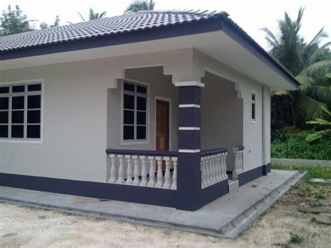 bina rumah tangga warna cat bahagian luar rumah
