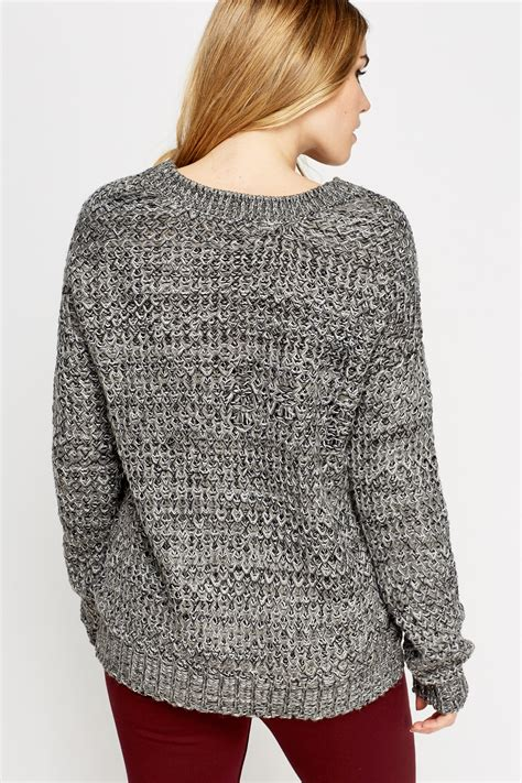 knitting pattern loose jumper loose knit casual jumper just 163 5