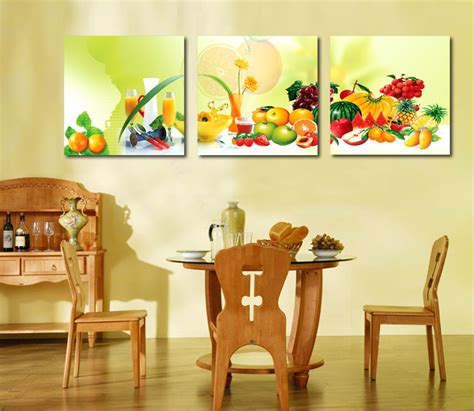 painting for kitchen 3 canvas home decoration wall painting fruit