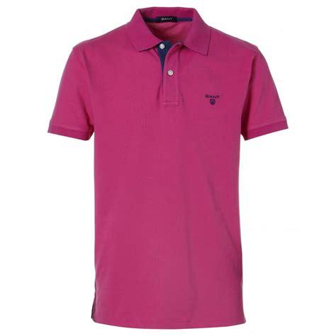 Polo Shirt gant contrast collar polo shirt gant from gibbs menswear uk