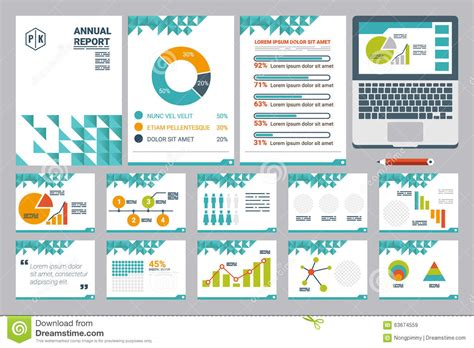 presentation report layout annual report cover a4 sheet and presentation template