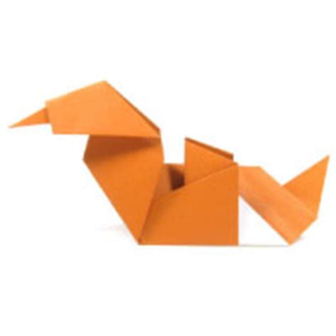 Easy Origami Duck - how to make origami duck