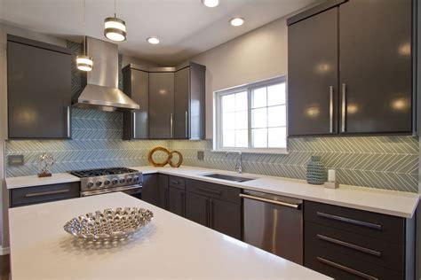 glass tile kitchen backsplash glass tile backsplash chevron island