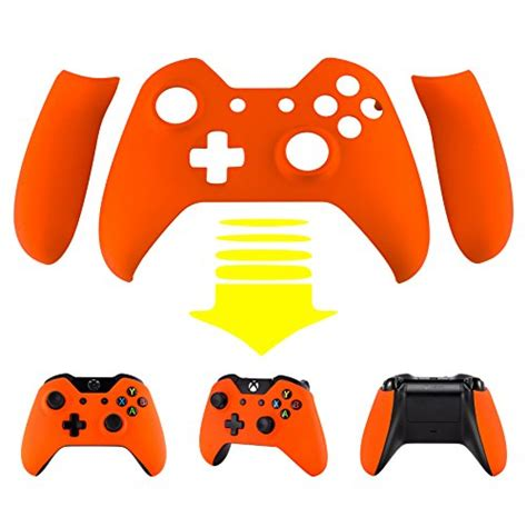 xbox one orange light extremerate orange soft touch front shell faceplate with