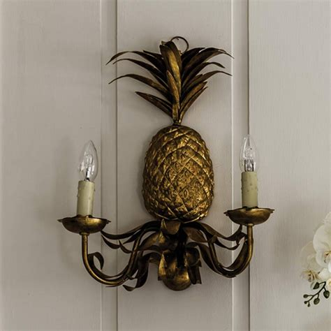 Pineapple Wall Sconce Pineapple Wall Sconce Lighting Graham And Green
