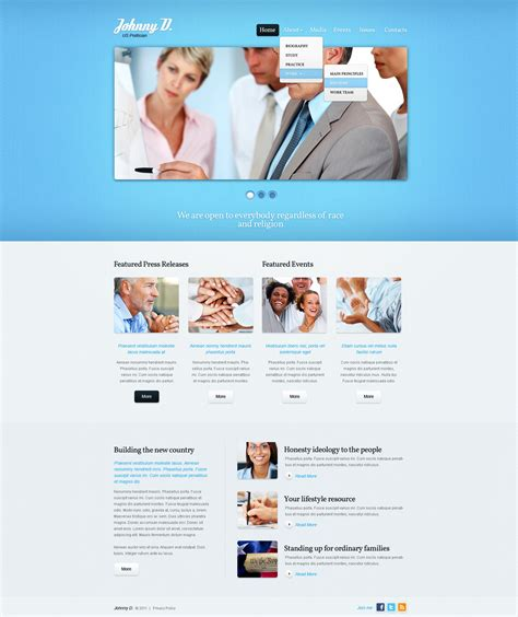 Political Candidate Website Template 35522 Candidate Website Template