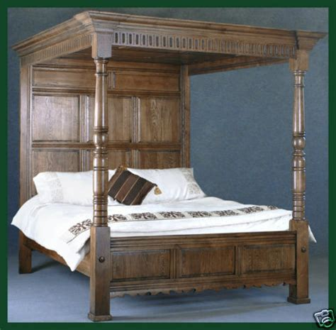 King Size Four Poster Bed solid oak bed king size four poster bed ebay