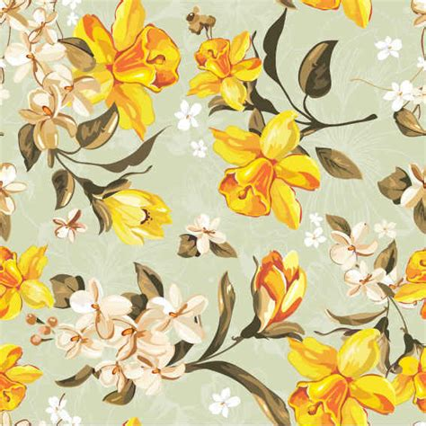 yellow floral pattern yellow flowers pattern free vectors 365psd com
