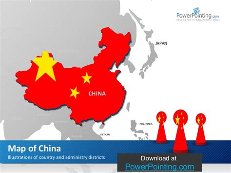 Powerpoint China Map China Ppt Template