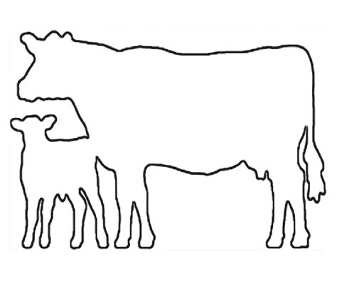 Cow Drawing Outline by Arts And Crafts Clip Black And White Cow