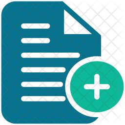 add document icon  flat style   svg png