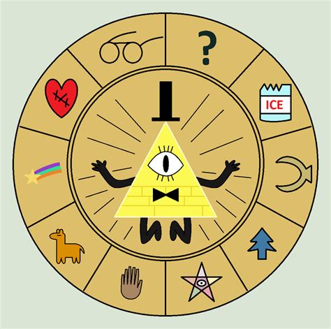 gravity falls bill cipher wheel bill cipher wheel by flippytiger on deviantart