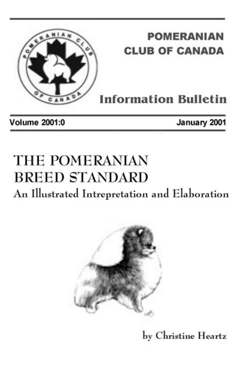 pomeranian breed standard dedicated to promoting and preserving the breed through responsible ownership