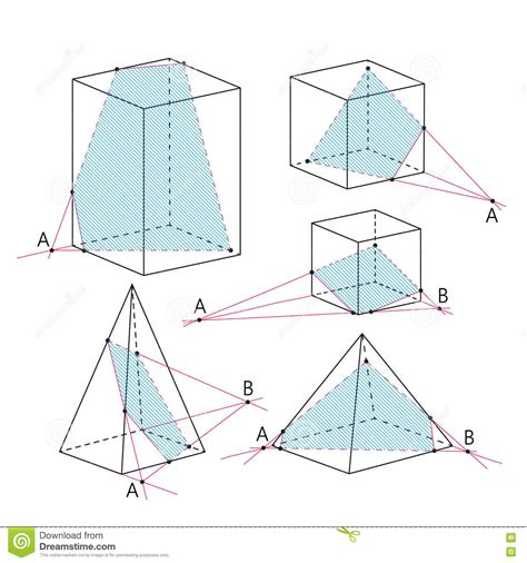 geometry sections math picture sections of polyhedra geometry background