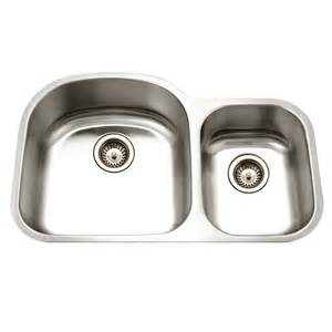 Houzer Kitchen Sinks Shop Houzer Eston 16 Basin Undermount Stainless Steel Kitchen Sink At Lowes