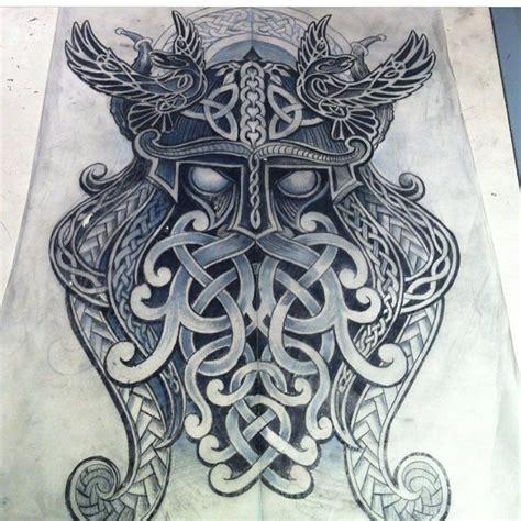odin tattoo se det h 228 r fotot av norse celtic tattoos p 229 instagram