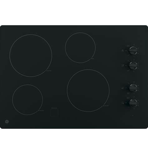 28 Inch Cooktop by Ge 28 Inch Electric Cooktop In Black With 2 Elements The